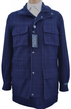 Ralph Lauren Navy & Green Car Coat #2EB0046