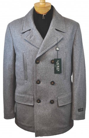 Ralph Lauren Gray Pea Coat #2JC0102