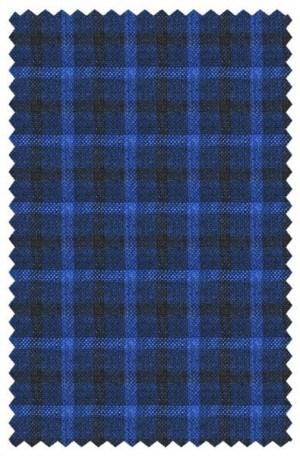 Paul Betenly Navy Windowpane Linen Sportcoat #2JU71058