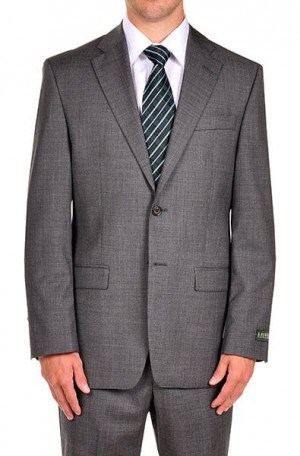 Ralph Lauren Gray Sharkskin Suit Separates Package