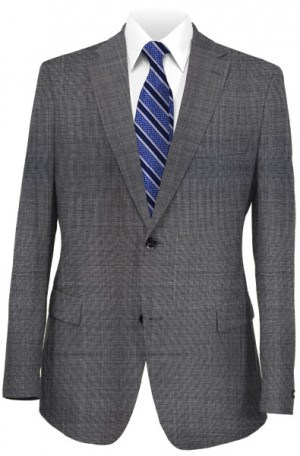 Ralph Lauren Classic Fit Ultraflex  Medium Grey Sharkskin Pure Wool Separates Package 2MX0075