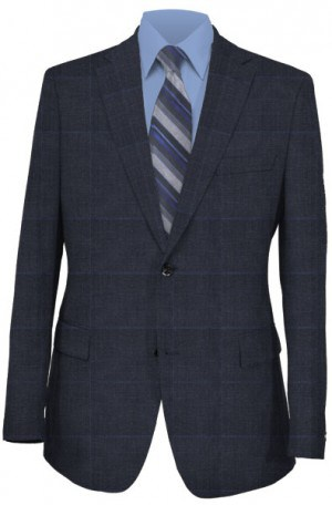 Ralph Lauren Classic Fit Ultraflex  Navy Blue Plaid Separates 2MX0078