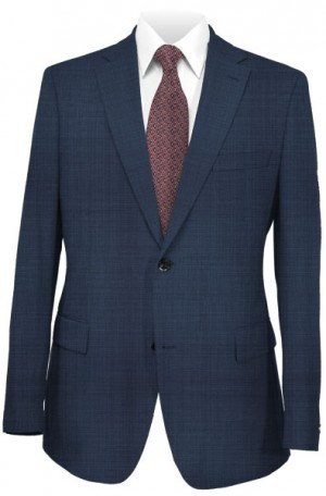 Ralph Lauren Classic Fit Solid Ultraflex Blue Tic Weave Wool Suit Separates  2MX0125