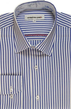 International Laundry Blue Stripe Long Sleeve Shirt #3025-05