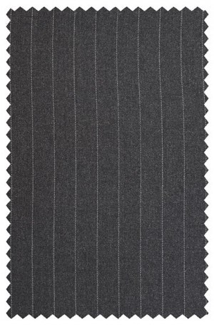 Hickey Freeman Gray Pinstripe Suit 304710B