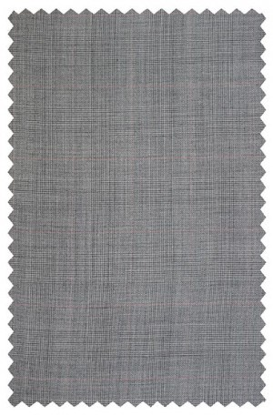 Petrocelli Gray Plaid 'Executive-Portly' Cut Suit 31312