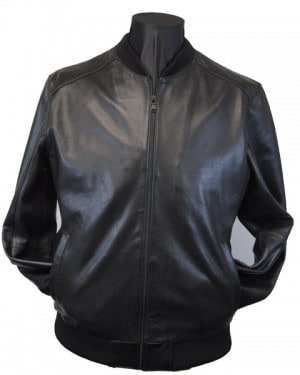 Emanuel Ungaro Black Perforated Leather Bomber #316102