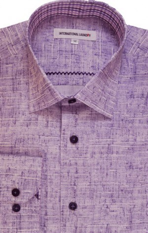 International Laundry Light Purple Long Sleeve Shirt #3201-07