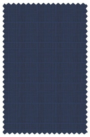 Pal Zileri Blue Pattern Tailored Fit Suit #33513-07