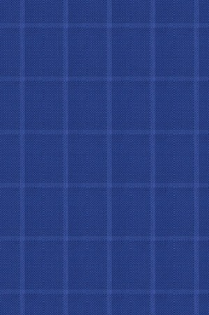 Rubin Royal Blue Windowpane Sportcoat #34066