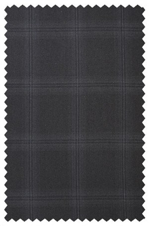 Jack Victor Black Windowpane Suit #341413