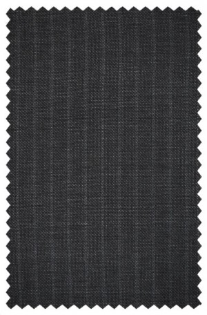 Varvatos Gray Pinstripe Peak Lapel Slim Fit Suit 3456D