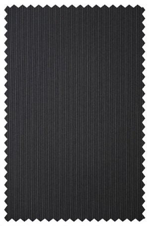 Petrocelli Black Stripe 'Executive-Portly' Cut Suit 36314