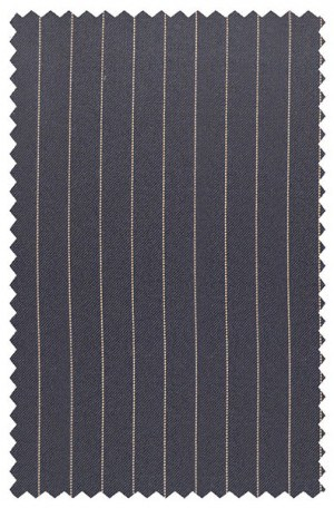 Jack Victor Navy Pinstripe Suit with Pleated Slacks #38346