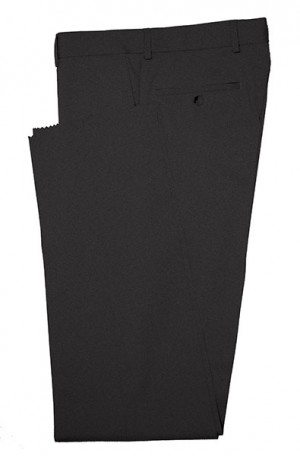 Betenly Black Solid Color Dress Slacks #3F0001