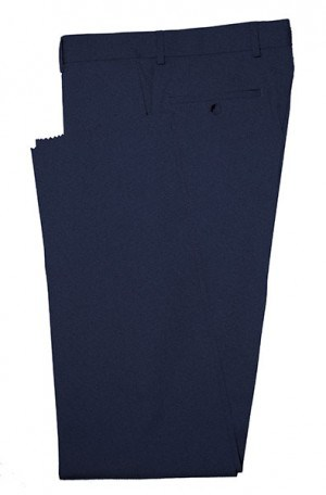 Betenly Navy Blue Solid Color Dress Slacks 3F0002