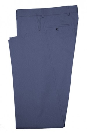 Betenly Medium Blue Solid Color Dress Slacks 3F0012