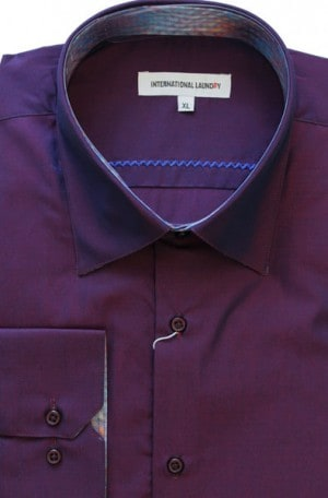 International Laundry Purple Tailored Fit Shirt #4025-08
