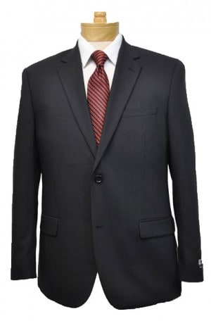 Montefino  Solid Black Pure Wool Suit Package