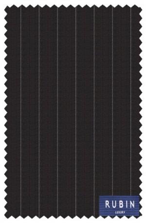 Rubin Black Stripe Tailored Fit Suit #40320