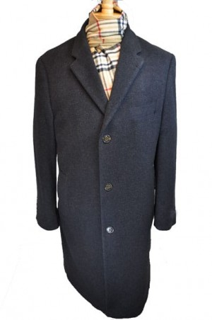 Harvard Charcoal Wool-Cashmere Full length Tailored Topcoat #40912C