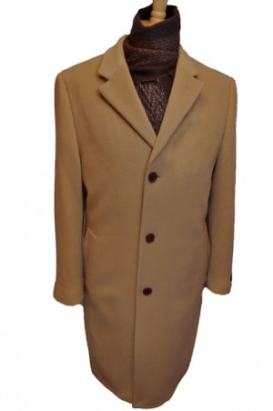 Harvard Camel Wool-Cashmere Full Length Tailored Topcoat #40914C
