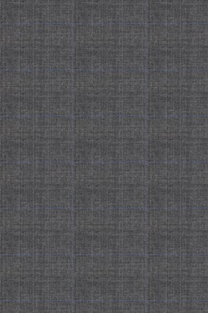 Rubin Gray Windowpane Tailored Fit Suit #40959