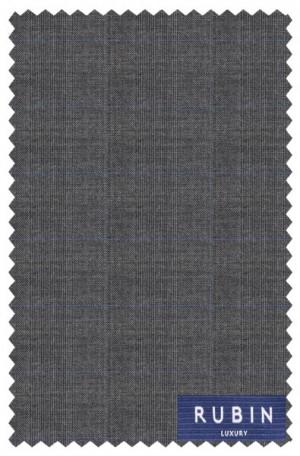 Rubin Gray Windowpane Tailored Fit Suit 40959