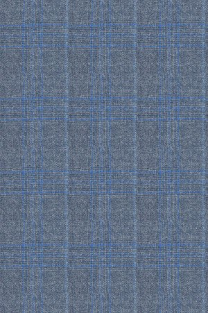 Rubin Blue Pattern Tailored Fit Suit 40969