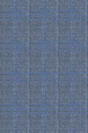 Rubin Blue Pattern Tailored Fit Suit #40969