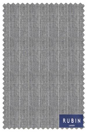 Rubin Gray Stripe Tailored Fit Suit #41374