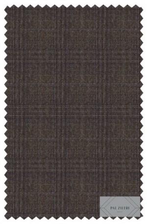 Pal Zileri Brown Pattern Tailored Fit Suit #41533-46