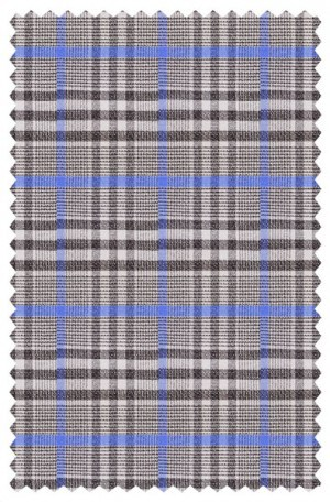Cardinni Blue-Gray Plaid Sportcoat #4170-162