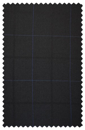 Rubin Black Windowpane Tailored Fit Suit #42100