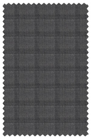 Rubin Gray Plaid Tailored Fit Suit #42119