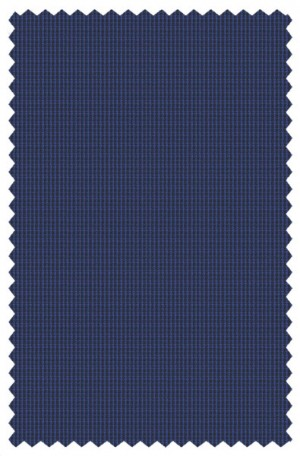 """The Smart Check"" Blue Micro-Check Tailored Fit Suit from Rubin #43406"