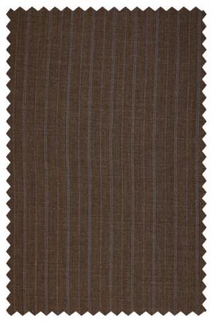 Rubin Brown Stripe Tailored Fit Suit #44252