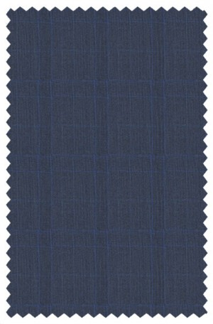 """Rubin """"Bright Navy"""" Plaid Tailored Fit Suit #44306"""