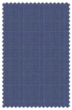 """Stylishly Polished"" Blue Plaid Tailored Fit Suit from Rubin #44316"