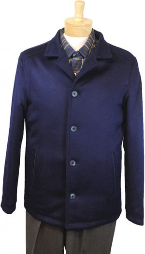 International Laundry Navy Cashmere Blend Coat #4806-NVY