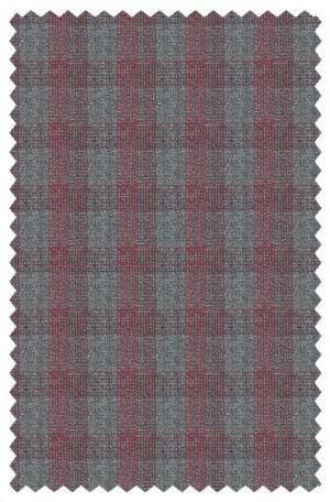 Prontomoda Gray & Burgundy Tailored Fit Sportcoat #49010-2B