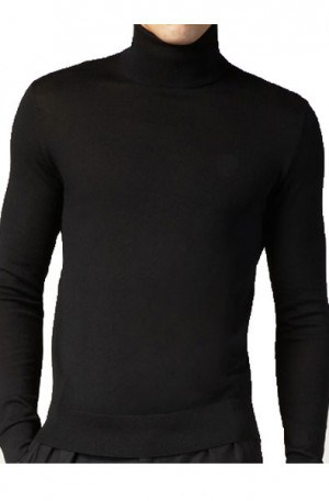 Black Turtle Neck #501T-BLK