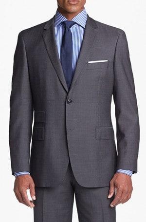 Hugo Boss Taupe Herringbone Gentleman's Cut Suit #50251385-240