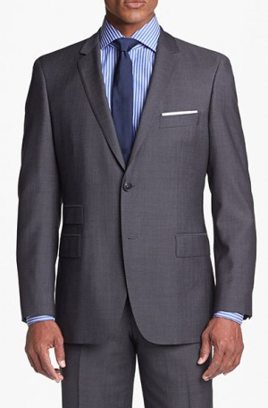 Hugo Boss Taupe Herringbone Gentleman's Cut Suit 50251385-240