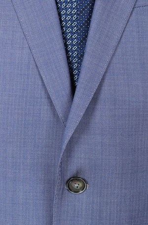 Hugo Boss Light Blue Herringbone Tailored Fit Suit #50262874-460