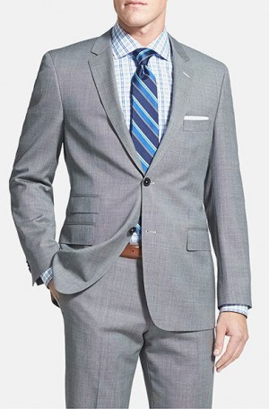 Hugo Boss Gray Mini-Check Gentleman's Cut Suit #50262949-030