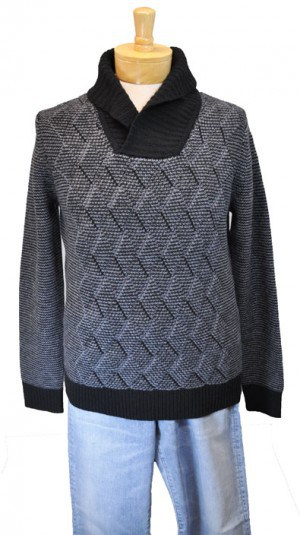 Hugo Boss Charcoal Shawl Collar Sweater #50323732-001