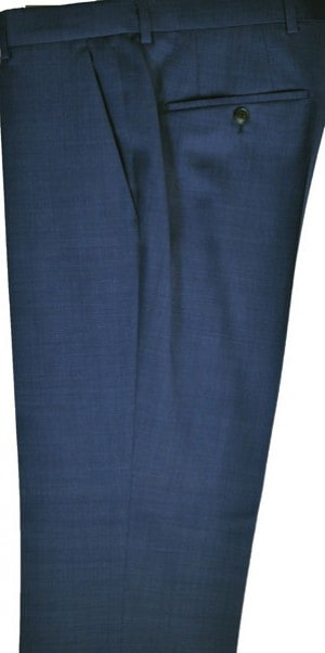 Hugo Boss Medium Blue Pindot Slim Fit Dress Slacks #50331222-421