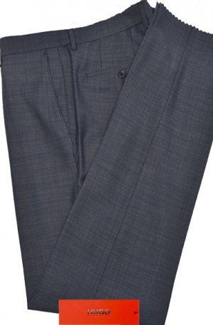 Hugo Boss Blue Textured Slim Fit Dress Slacks #50374412-421