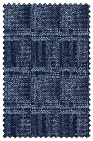 """Three C's"" Blue Windowpane Summer Sportcoat from Hugo Boss #50383981-410"